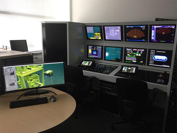 Tree-C SMD ROV simulator console setup