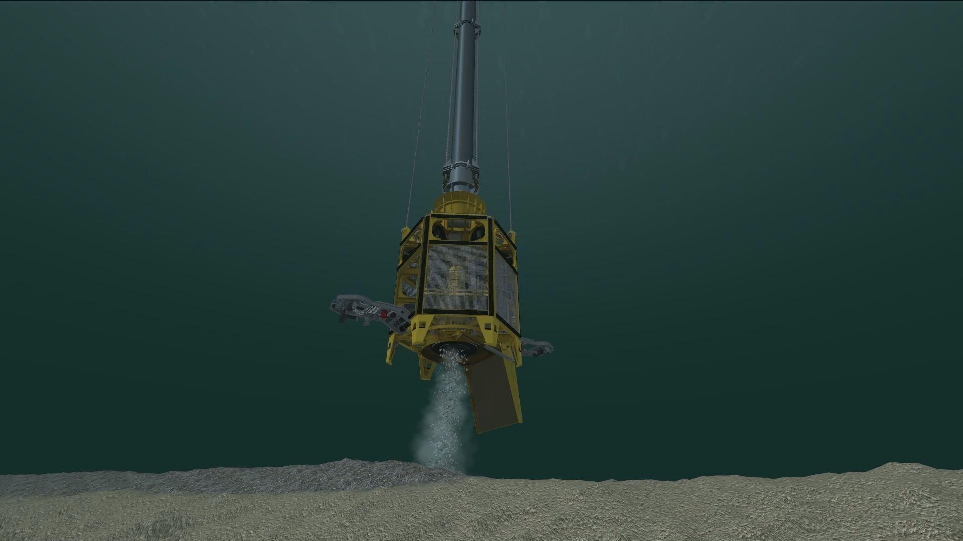 Joseph Plateau rov rock dumping simulation