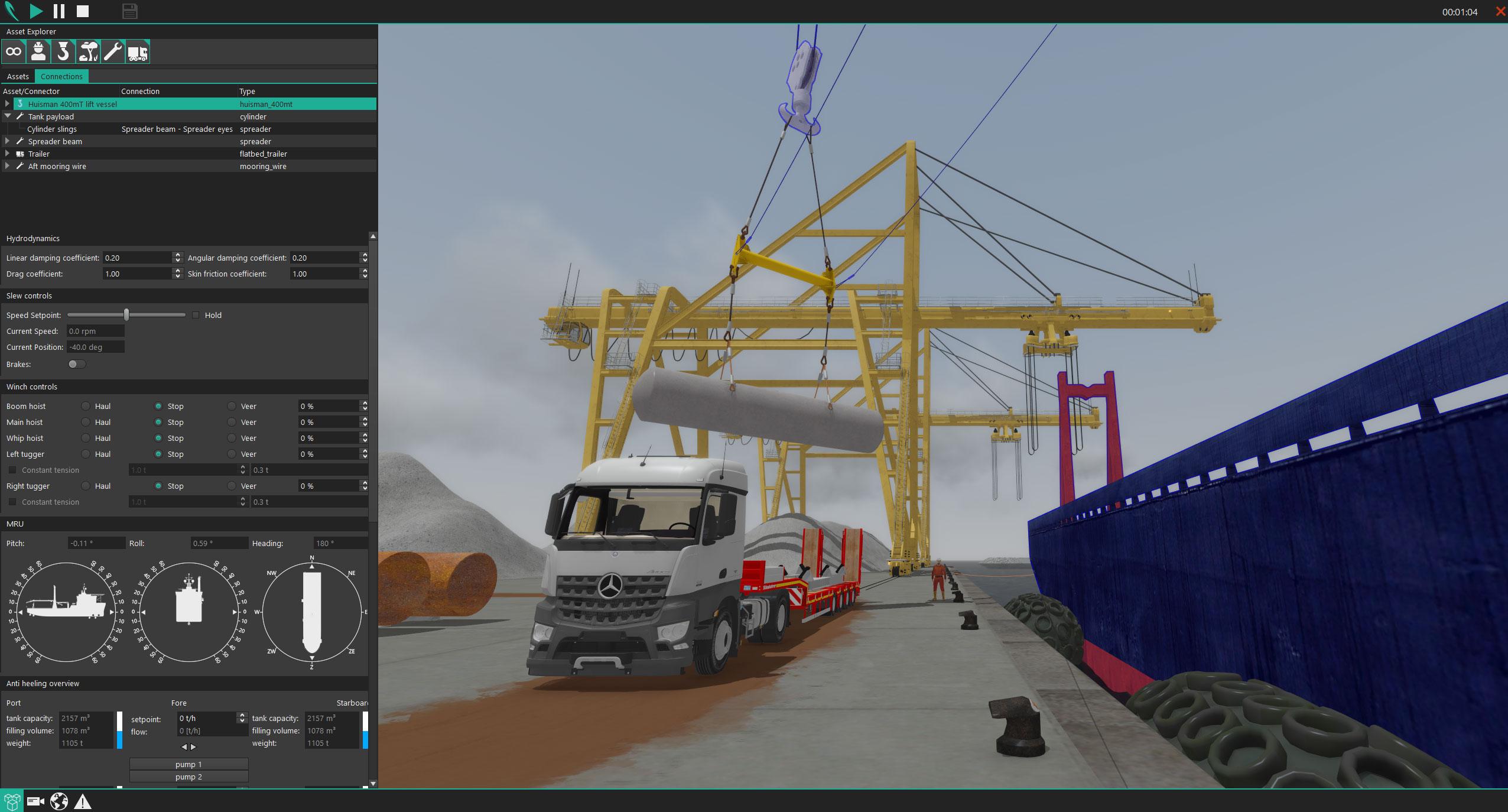 vr4max asset simulator interface